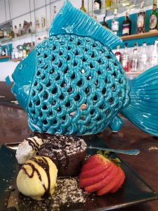 Blue Fish and our dessert